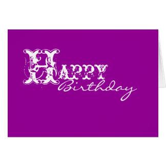 Purple Happy Birthday Cards