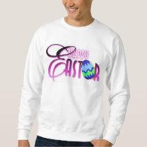 Purple Happy Easter Egg Sweatshirt