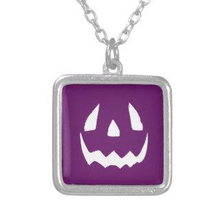 Purple Happy Halloween Necklace