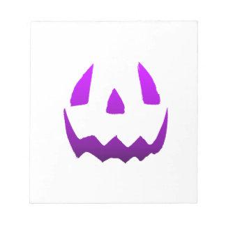 Purple Happy Halloween Memo Notepad