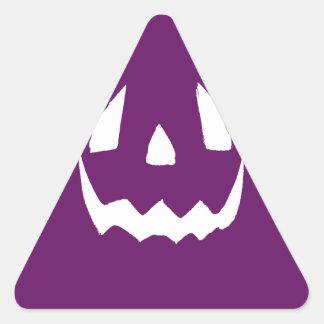 Purple Happy Halloween Triangle Sticker