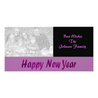 purple happy new year card
