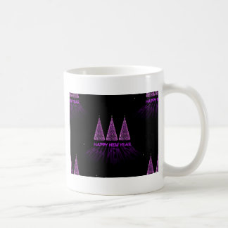 purple happy new year coffee mug