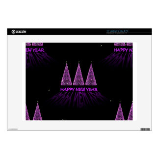 purple happy new year laptop skins
