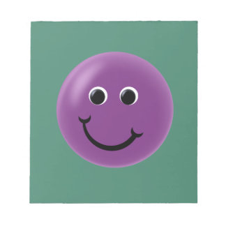 Purple Happy Smiley Scratch Pad