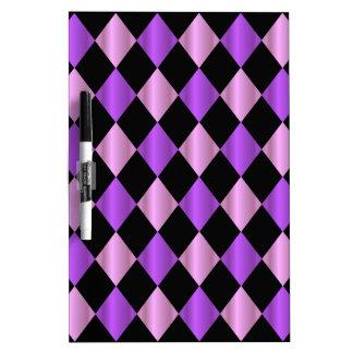 Purple Harlequin Dry Erase Board