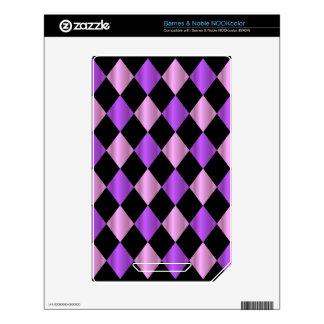 Purple Harlequin NOOK Color Skin