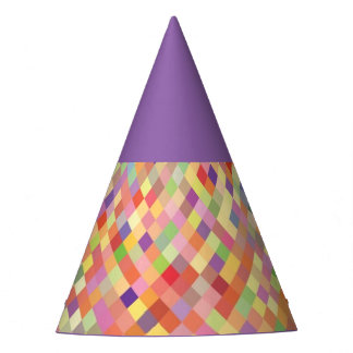 Purple Harlequin party hat
