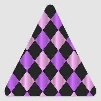 Purple Harlequin Triangle Sticker