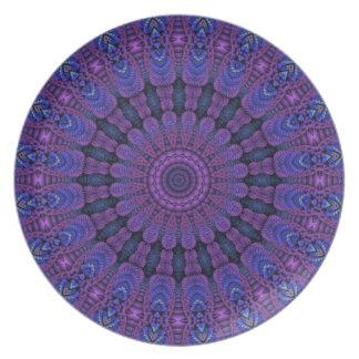 Purple Harmony Design Plate