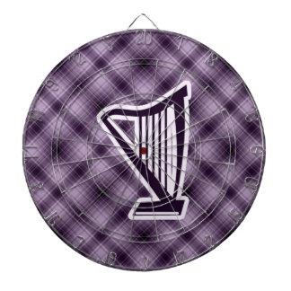 Purple Harp Dart Board