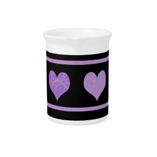 Purple harts pattern drink pitcher