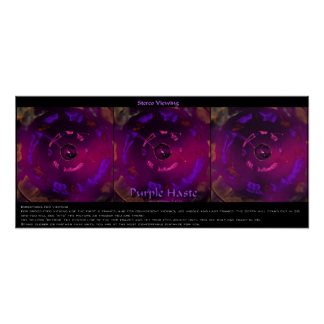 Purple Haste Stereo Pairs Poster