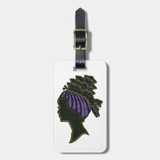 Purple Hat Cameo Luggage Tag