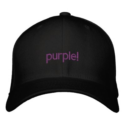 Purple Hat Embroidered Hats