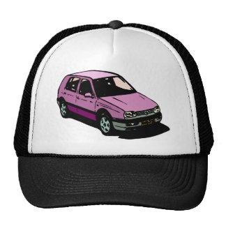 Purple hatch trucker hat