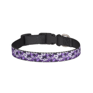 Purple Hawaiian Dog Collar