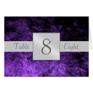 Purple Haze Artistic Table Number Folded Card