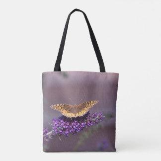 Purple Haze Butterfly Tote Bag