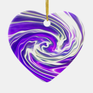 Purple Haze Ceramic Ornament
