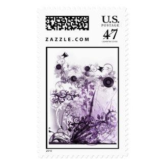 Purple haze garden stamps