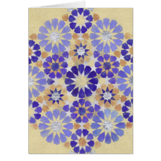 'Purple Haze' Islamic geometry greeting card