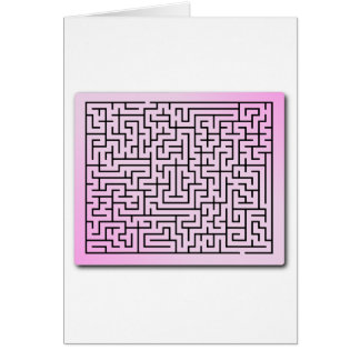 Purple  Haze Maze Greeting Card