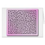 Purple  Haze Maze Greeting Cards