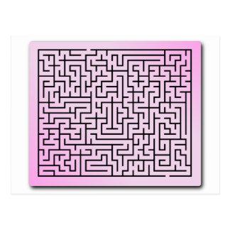 Purple  Haze Maze Post Card