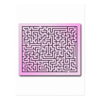 Purple  Haze Maze Postcard
