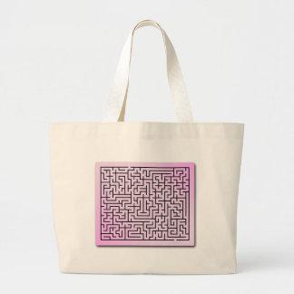 Purple  Haze Maze Tote Bags