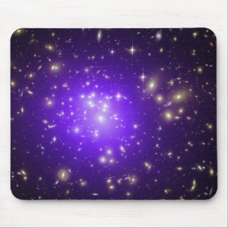 Purple haze of stars at night mouse pad