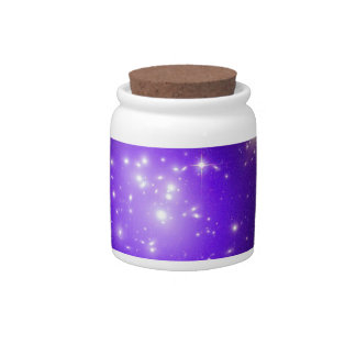 Purple haze of stars candy jar
