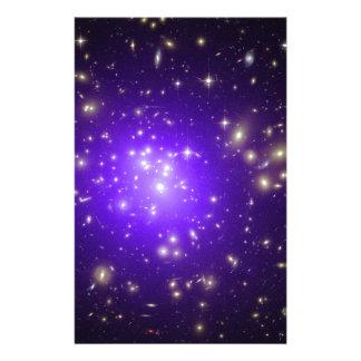 Purple haze of stars stationery