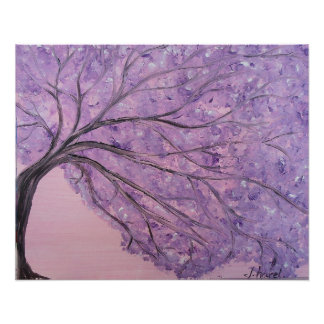 Purple Haze Tree Poster