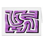 Purple HazeMaze Greeting Cards