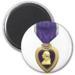 Purple Heart 2 Inch Round Magnet