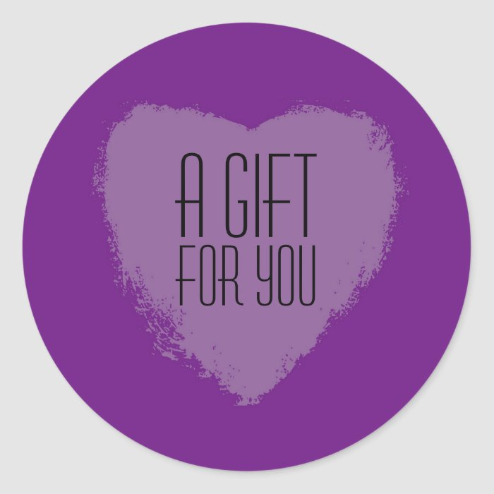 Purple Heart A Gift For You Stickers