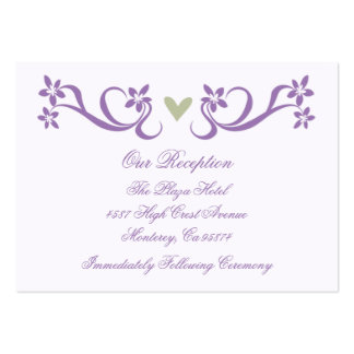 Purple Heart Accent Reception Insert Cards Large Business Cards (Pack Of 100)