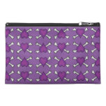 Purple Heart and Crossbones Pattern Travel Accessories Bags