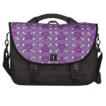 Purple Heart and Crossbones Pattern Bag For Laptop