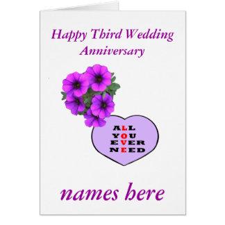 Third wedding anniversary names