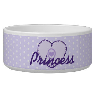 Purple Heart and Polka Dots Bowl