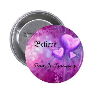 purple heart, Believe, Team In Training Button