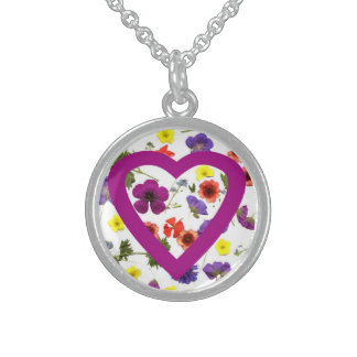 Purple Heart Blossom Pendant