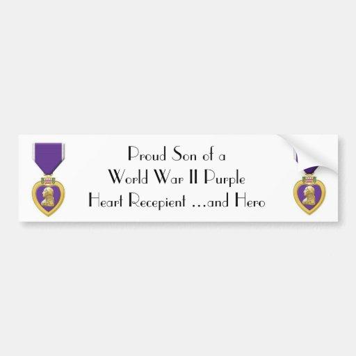 purple heart bumper sticker