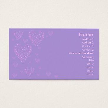Professional Business Purple Heart Business Card