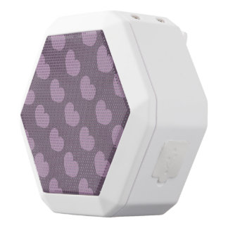 Purple Heart Candy Design Change Background Color White Bluetooth Speaker