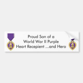purple heart car bumper sticker