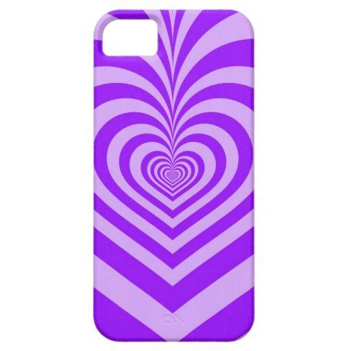 Purple Heart - caso del iPhone 5 Funda Para iPhone SE/5/5s